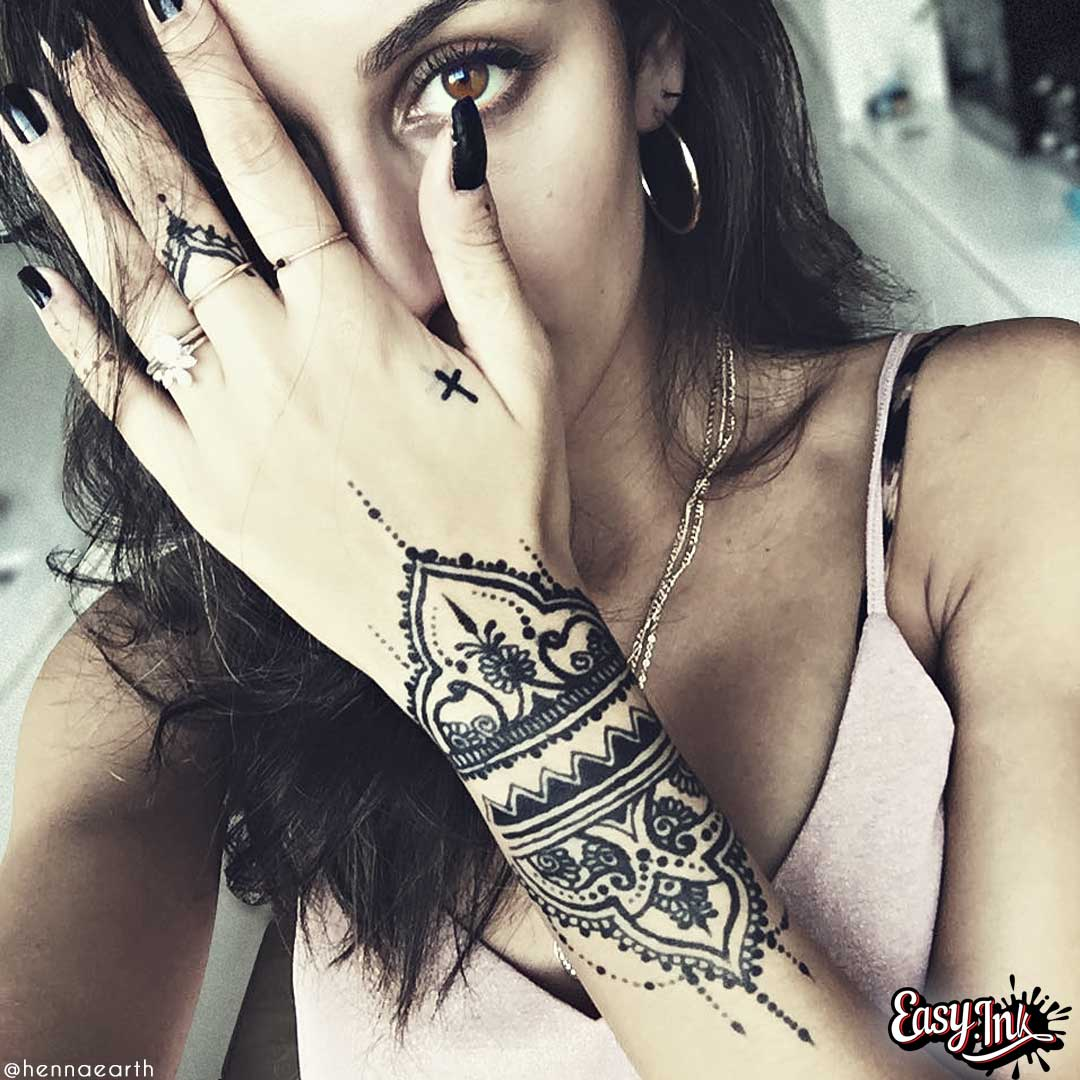Premium Temporary Tattoo FreeHand Ink Full Kit - Realistic Temporary tattoo ink that last