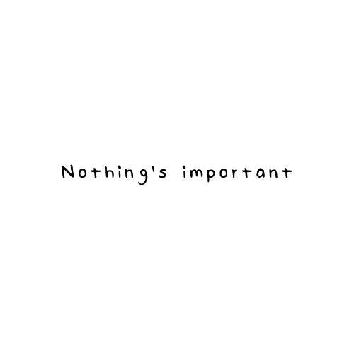 Nothing's Important