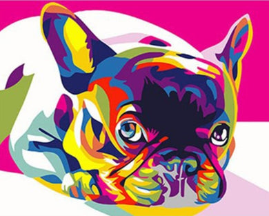 Abstract Frenchie Dog