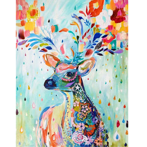 Colorful abstract deer - DIY Paint By Numbers Kits for Adults