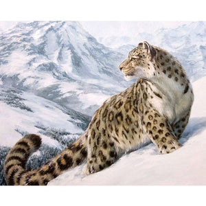 Leopard in the snow - DIY Paint By Numbers Kits for Adults