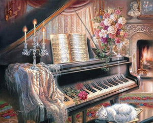 Piano in the evening