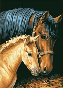 Adult and younger horse - DIY Paint By Numbers Kits for Adults