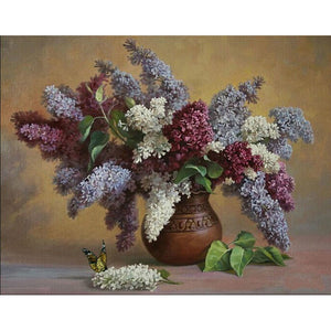 Colorful Lavender in a vase