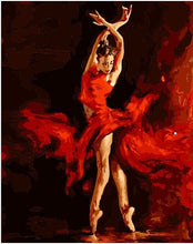 Lady ballerina in red