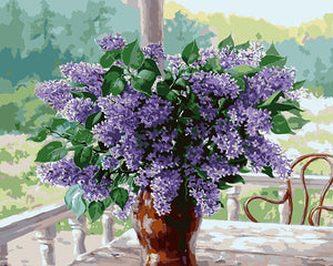 Purple Lavender in vase