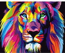 Abstract colorful lion