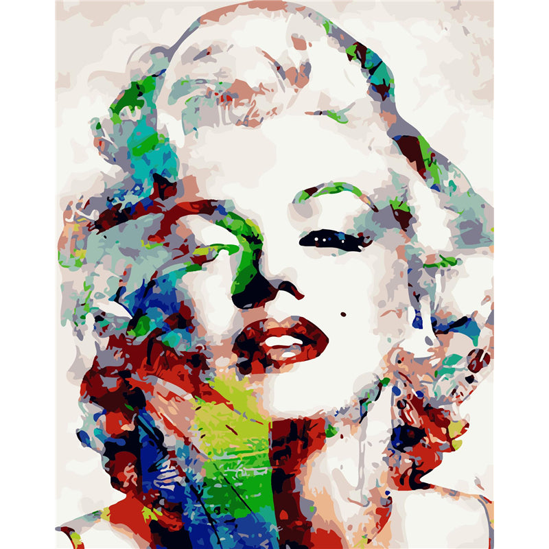 Abstract Marilyn Monroe Paint By Numbers