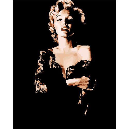 Marilyn Monroe in the dark
