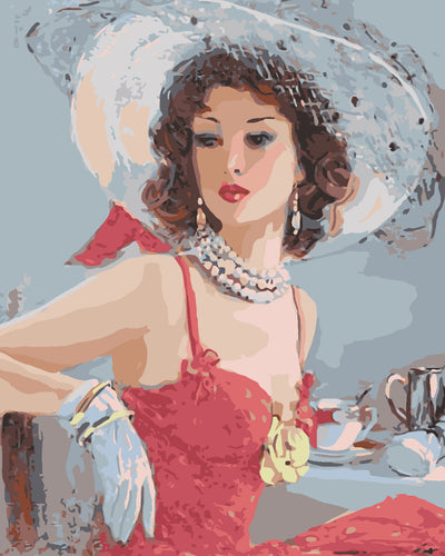 Elegant woman in jewellery - DIY Paint By Numbers Kits for Adults