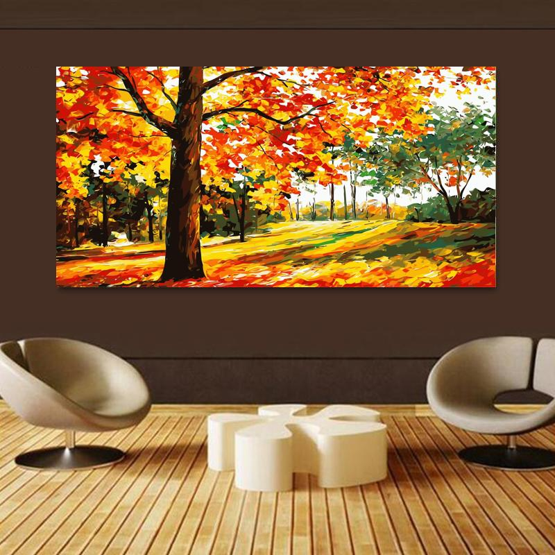 Autumn trees (50cm x 100cm)