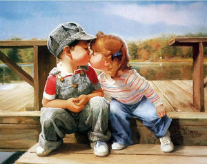 Childhood kiss