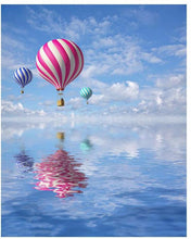 Hot Air Balloons above the sea