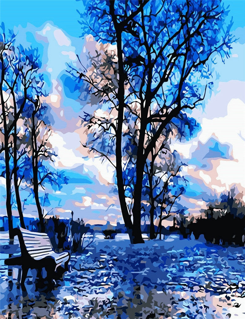 Abstract Blue Forest