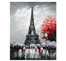 Abstract Eiffel Tower and Red