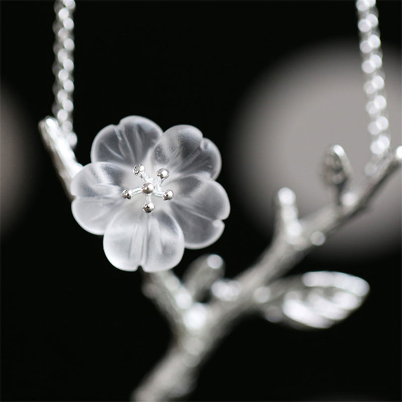 Romantic Flower in the Rain Drop Necklace