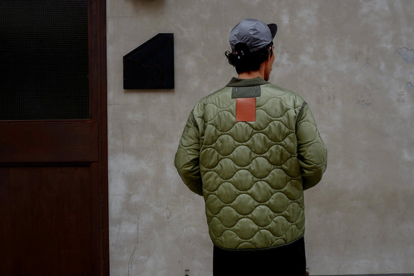 // KARNANA MEN // LEATHER TAG QUILTED JACKET *BEST BUY* ( PRE ORDER )