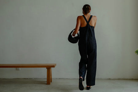PREMIUM UNWASHED DENIM JUMPSUIT ( PRE ORDER )