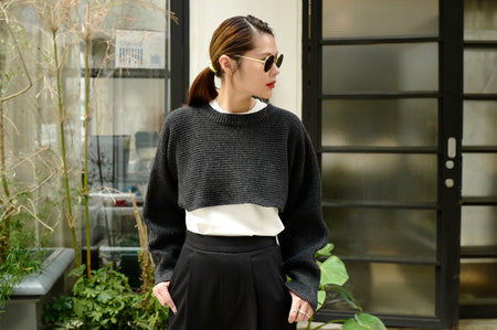CHARCOAL HALF SWEATER *BEST BUY*