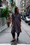 CHARCOAL CAPE TRENCH COAT