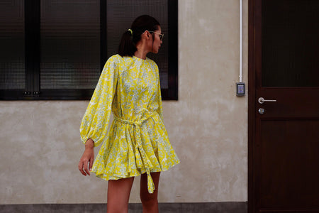 LIGHT YELLOW BIRDIE SUMMER DRESS *BEST BUY*