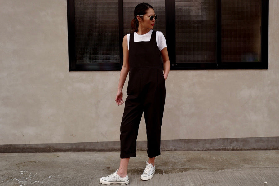 BLACK CHIC COTTON OVERALL *BEST BUY*