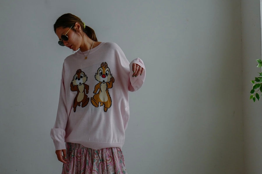 PINK CHIP AND DALE SUMMER KNIT *BEST BUY*