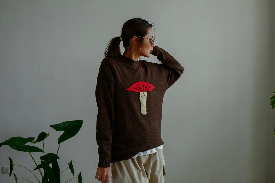 MUSHROOM SWEATER *BEST BUY*