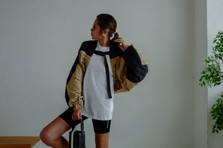 TWO TONES HALF SHELL WINDBREAKER