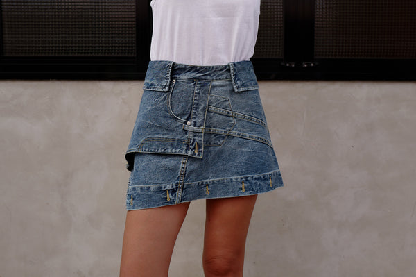 DECONSTRUCTED DENIM SKIRT *BEST BUY* ( PRE ORDER )