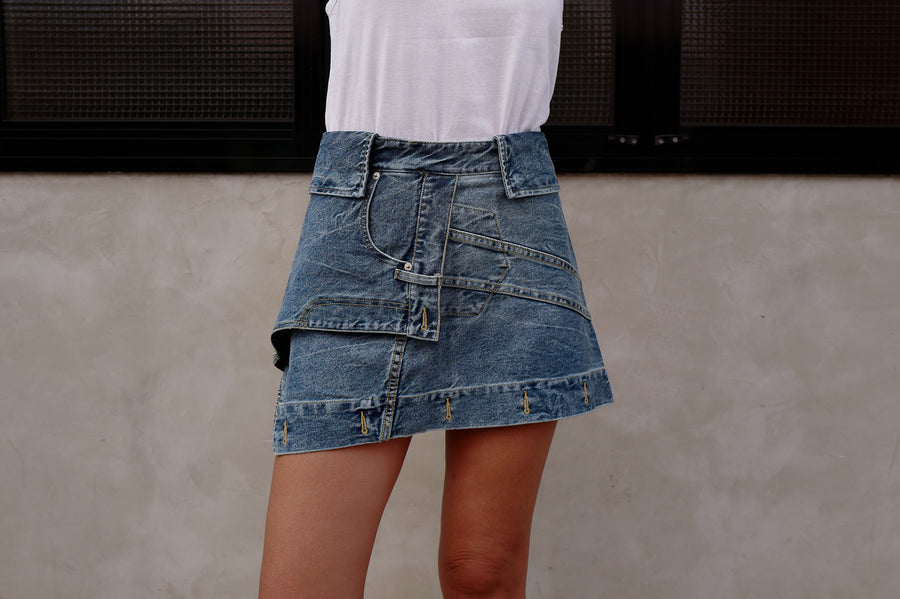 DECONSTRUCTED DENIM SKIRT *BEST BUY*