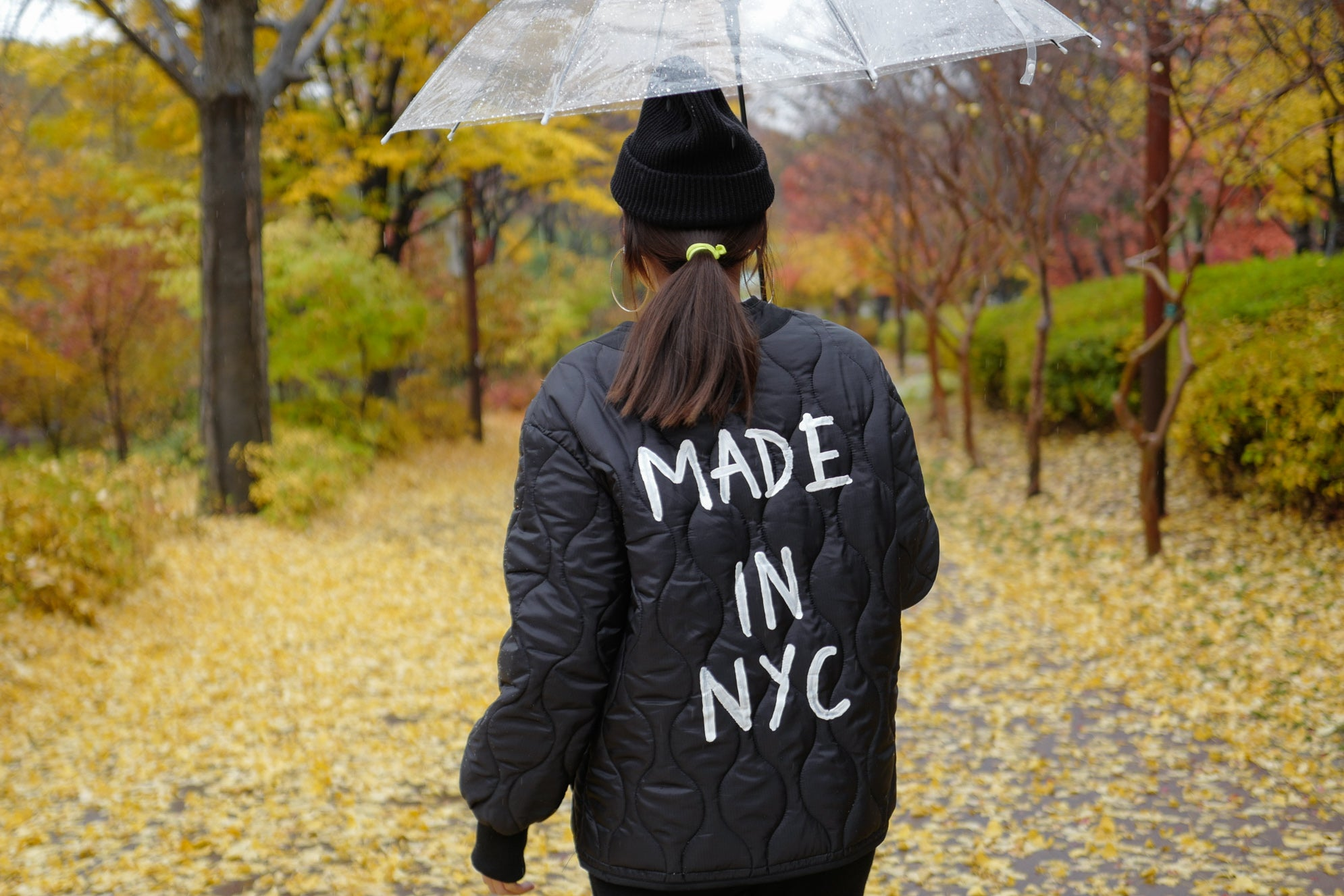 Black NYC Quilted Shell Jacket *MUST BUY*