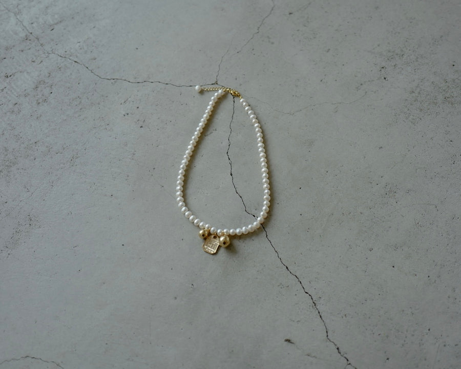 PREMIUM BALL CHARMS FRESH PEARL NECKLACE ( PRE ORDER )