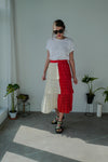 2 Tones Pleated Maxi Skirt *BEST BUY*
