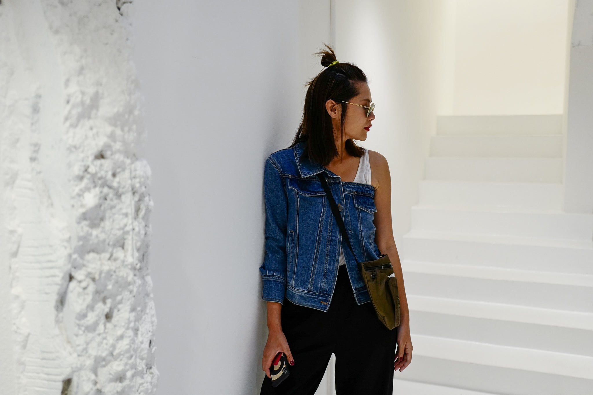 One Shoulder Denim Jacket *LAST ONE*