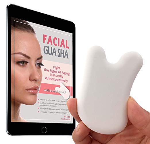 Anti-Aging Facial Gua Sha Scraping Tool | Acupressure Massage | Problem-Specific Instructions