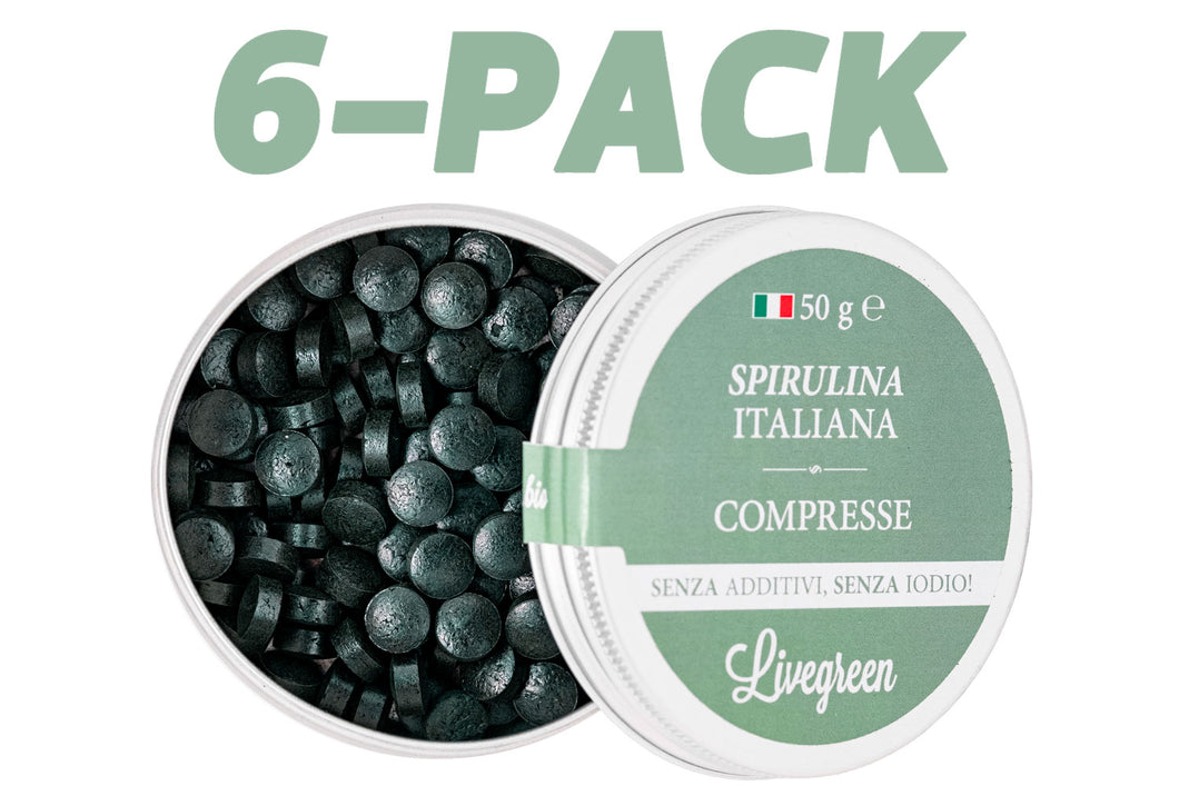 6 Pack - Spirulina Italiana in compresse