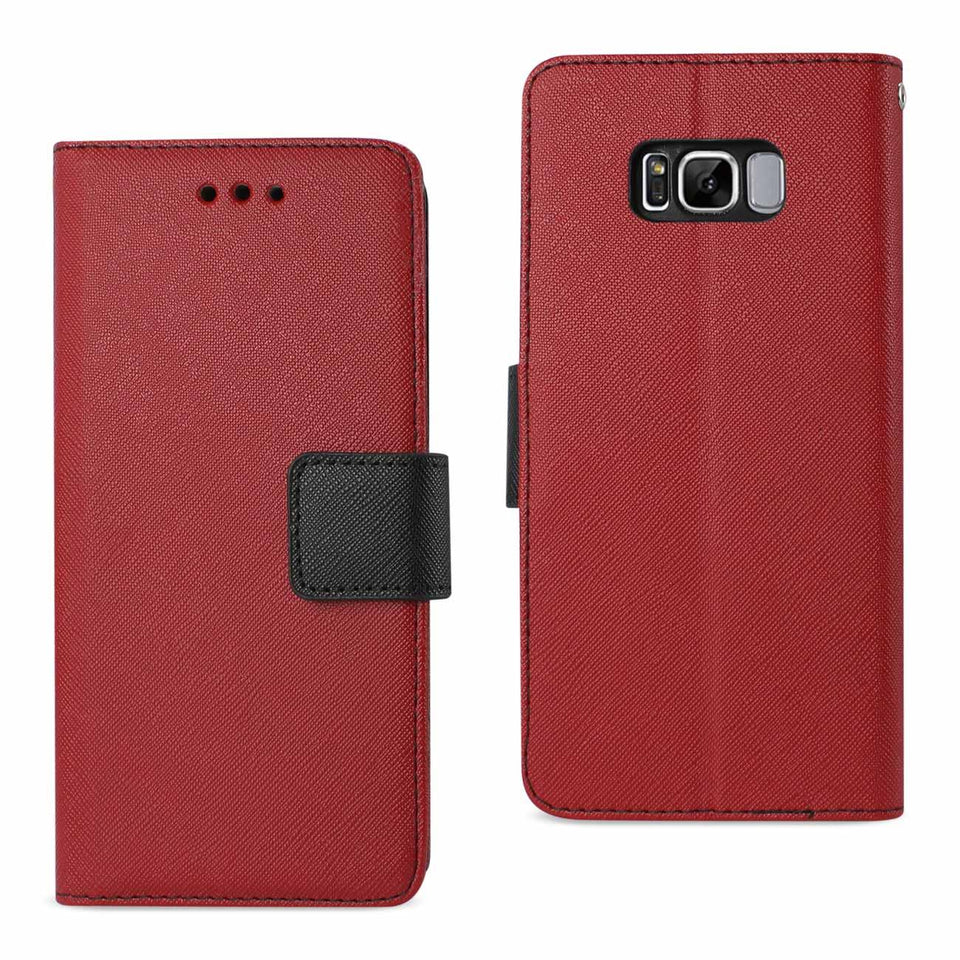 Virtual Reality Reiko Samsung Galaxy S8 Edge Checked Fabric In Red