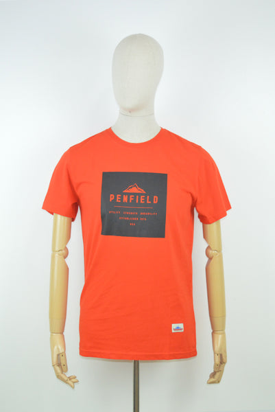 Penfield AW17 Mountain T-Shirt in Fire Orange