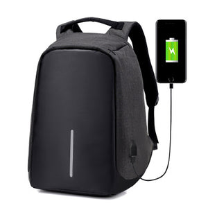 Men And Women Backpack With USB Charger