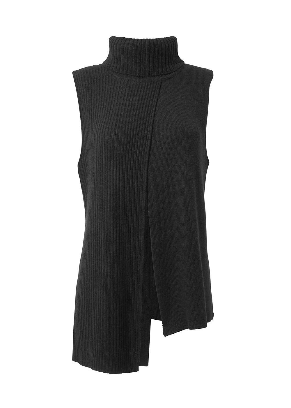 Utah Turtleneck Ribbed Vest