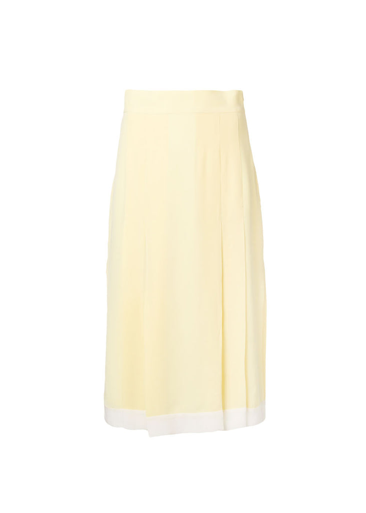 Alia Pleated Silk Skirt