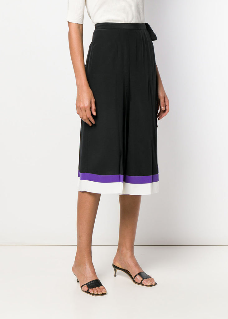 Keyla Wrap Silk Skirt