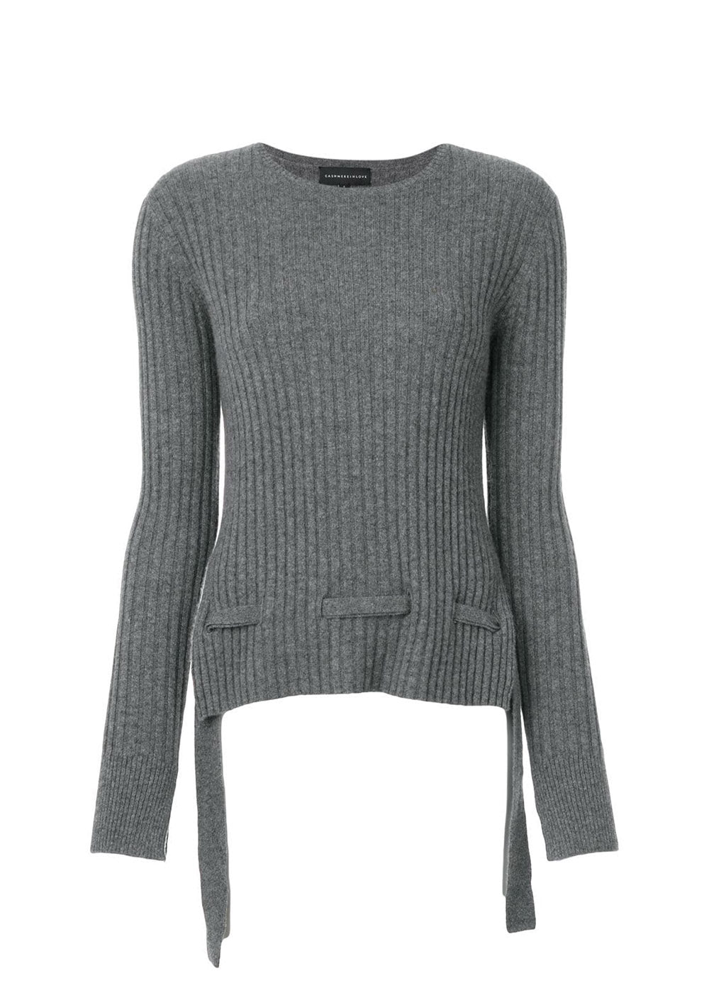 Veda Ribbed Jumper With Ties