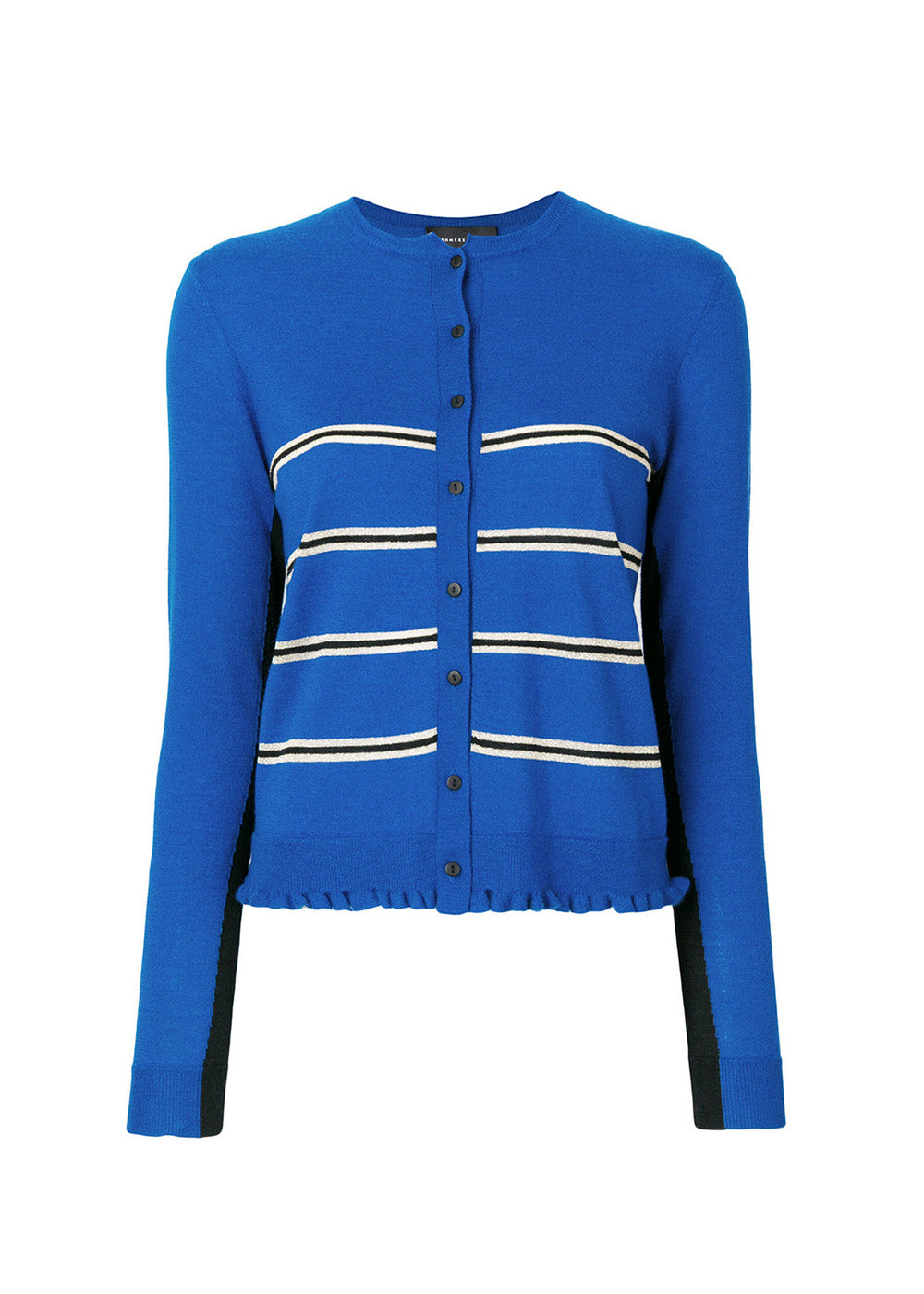 ee8e349060 KLEIN BLUE SUPER FINE CROPPED CASHMERE CARDIGAN WITH LUREX STRIPES ...