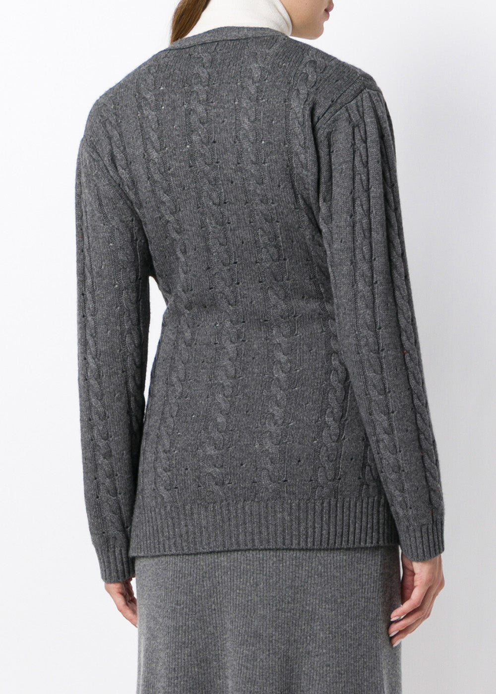 c36457bf3 London Cable Knit Grey Cashmere Cardigan – Cashmere In Love
