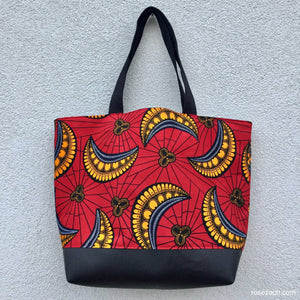 Shopper - Red/Yellow Wax Print
