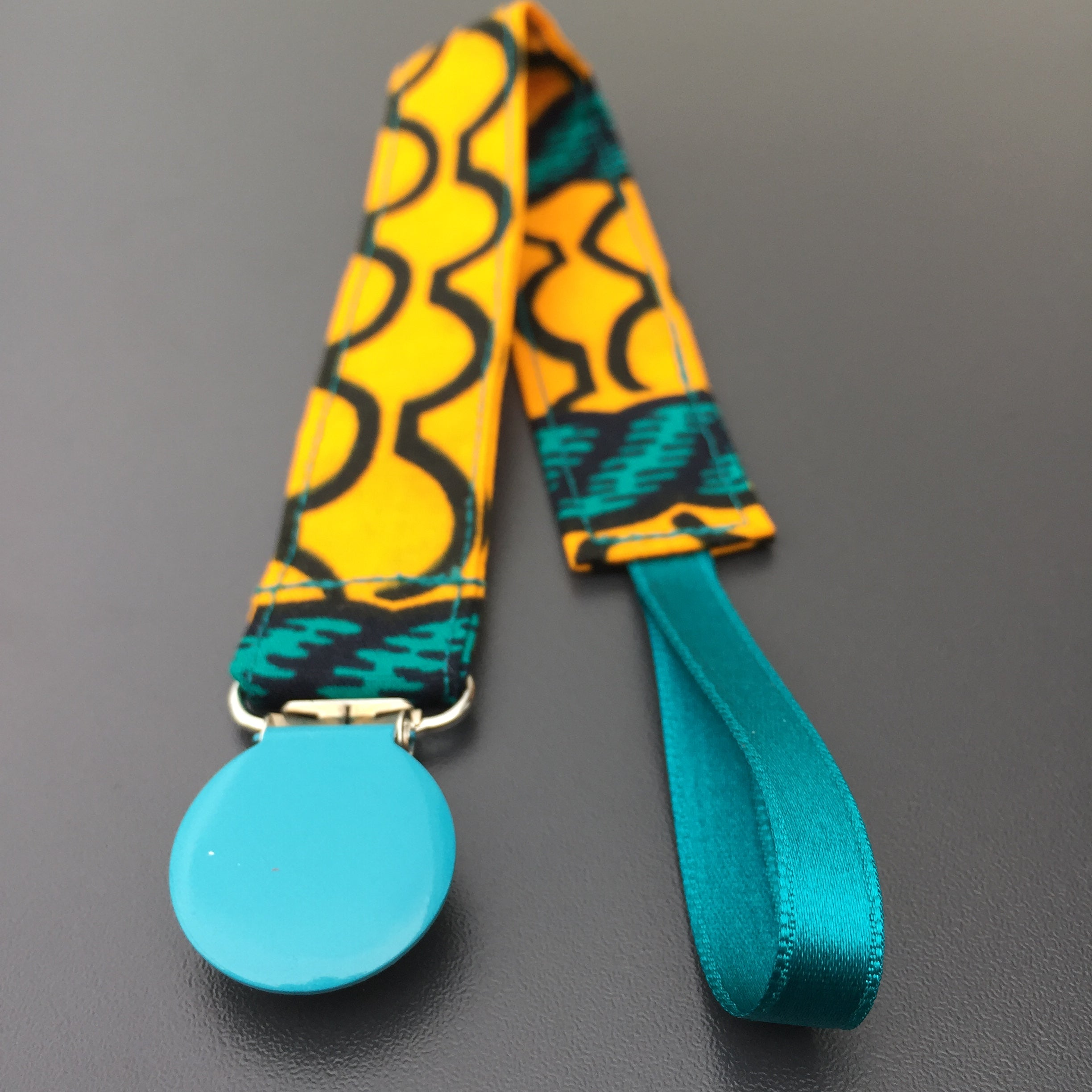 Colourful Pacifier Holder - wax print