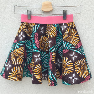 Colourful Girl's Skirt - Floral wax print