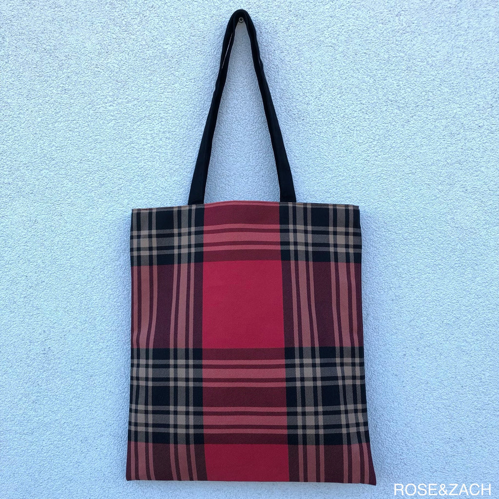 Tote Bag - Check print
